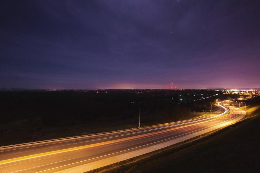 Autostrada noc.